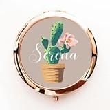 Event Blossom Fiesta Cactus Compact Mirror Personalized w/ Script Name