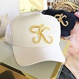 Event Blossom Monogrammed Trucker Hat with Gold Initial (2 Colors)