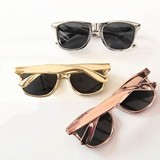 Event Blossom Wayfarer-Replica Metallic Gold Sunglasses