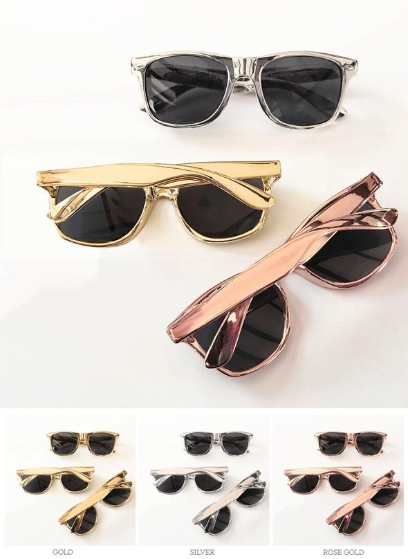Event Blossom Wayfarer-Replica Metallic-Shade Sunglasses (3 Colors)
