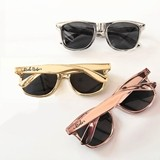 Event Blossom Wayfarer-Replica Metallic Gold Bachelorette Sunglasses