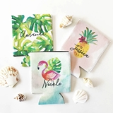Event Blossom Personalized Tropical Beach Can Coolers (Set of 4)
