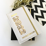 "Event Blossom Gold Foil ""Class of"" Graduation Theme Journal"