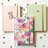 Event Blossom Metallic Gold Script Monogram Journal (5 Colors)