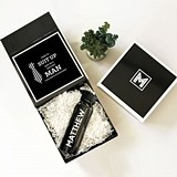 Time To Suit Up ... Groomsman Gift Set in Monogrammed Black Gift-Box
