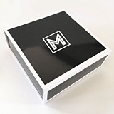 Event Blossom White-Bordered Black Monogram Gift Box with Insert Card