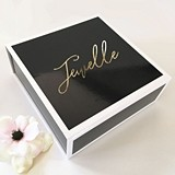 Personalized White-Bordered Black Gift Box with Optional Insert Card