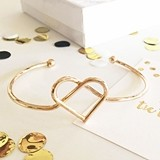 "Heart ""Tie the Knot"" Design Gold-or-Silver-Plated Bracelet"