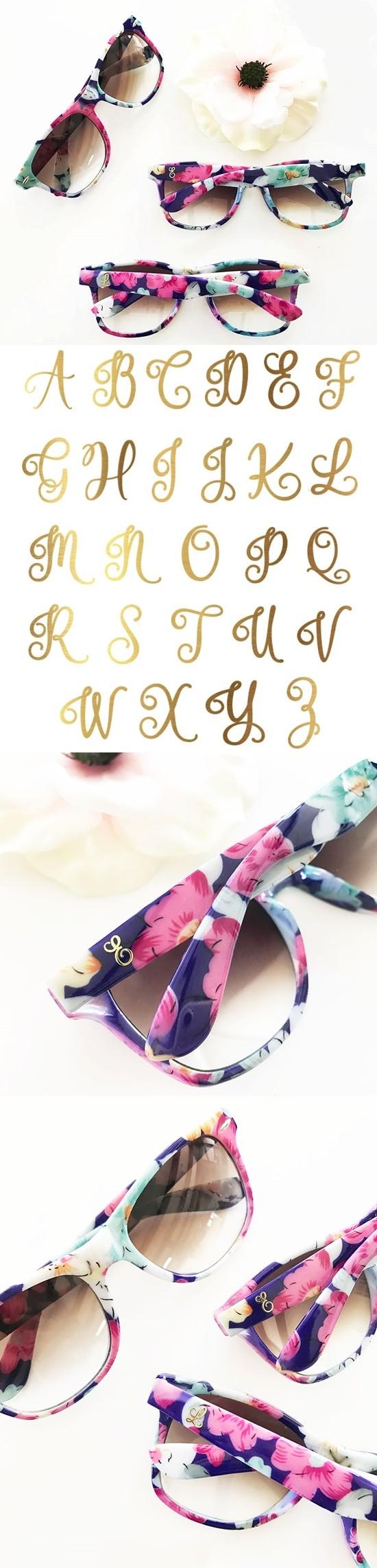 Event Blossom Wayfarer-Replica Monogrammed Floral Sunglasses