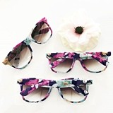 Event Blossom Wayfarer-Replica Blank Floral Sunglasses