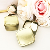 Event Blossom Blank Gold-Colored Square Candle Tins