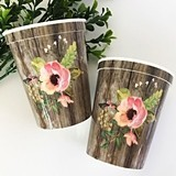 Event Blossom Floral Garden BPA-Free Plastic Party Cups (Set of 25)