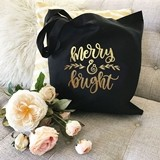 Event Blossom Holiday Canvas Tote Bag (Choice of 2 Sayings) (2 Colors)
