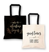 Destination Wedding Theme Canvas Tote Bag (2 Colors) (3 Styles)
