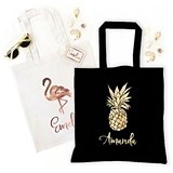 Event Blossom Tropical Tote Bag (2 Colors) (4 Metallic Foil Designs)