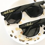 Event Blossom Wayfarer-Like Bridal Party Black Sunglasses