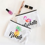 Personalized Tropical Beach Canvas Cosmetic Bag (4 Designs)