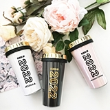 Personalizable Graduation Travel Mug with Gold Lid (4 Colors)