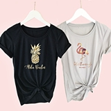 Event Blossom Tropical Fitted T-Shirt (4 Colors) (4 Metallic Designs)