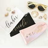 Event Blossom Personalized Sunglasses Pouch with Modern Script Name