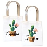 Event Blossom Personalized Fiesta Cactus Design Tote Bag