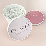 Event Blossom Personalized Bridesmaid Proposal Round Gift-Box