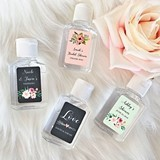 Event Blossom Personalized Floral Garden Hand Sanitizer Bottles