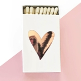 Event Blossom Matchboxes with Heart Design (3 Foil Colors) (Set of 6)