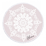 Event Blossom Personalizable Boho Pattern Round Beach Towel