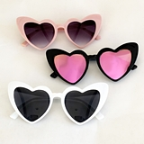 Event Blossom Cat-Eye Heart-Shaped Sunglasses (3 Colors)