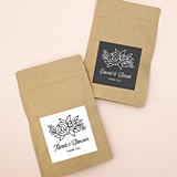 Event Blossom Floral Silhouette Design Kraft-Paper Goody Bags