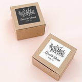 Event Blossom Floral Silhouette Design Kraft-Paper Favor Boxes