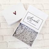 Event Blossom Personalized Small White Gift Box w/ Name on Insert Card