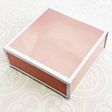 Event Blossom Blank White-Bordered Pink Gift-Box with Magnetic Closure