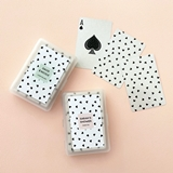 Confetti Hearts Playing Cards Deck with Personalized Sticker for Case