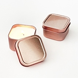 Event Blossom Blank Rose Gold Square Candle Tins