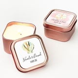 Event Blossom Tropical Beach Designs Rose Gold-Colored Candle Tins