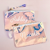 Event Blossom Personalized Holographic Cosmetic Bag with Custom Name