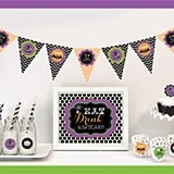 Spooky Halloween Decorations Party Kit (Non-Personalized)