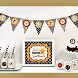 Thanksgiving Decorations Party Kit (Non-Personalized)