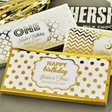 Personalized Metallic Foil Birthday Candy Wrapper Covers