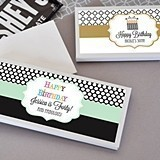 Personalized Candy Wrapper Covers with Birthday Designs