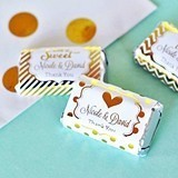 Personalized Metallic Foil Mini Candy Wrapper Covers