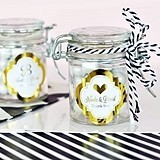 Personalized Metallic Foil Mini Favor Labels