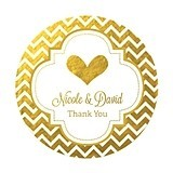 Personalized Metallic Foil Small Round Favor Labels