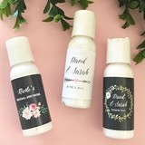 Event Blossom Personalized Floral Garden Hand Lotion Bottles