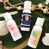 Event Blossom Personalized Tropical Beach Designs Hand Lotion Bottles