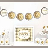 Gold & Glitter New Year's Eve Party Decor Kit (Non-Personalized)