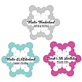 Personalized Snowflake-Shaped Labels (22 Colors)