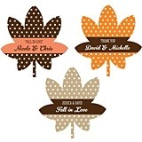 Personalized Fall-Leaf-Shaped Labels (22 Colors)